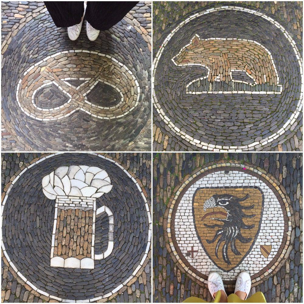 freiburg sokakları mozaik